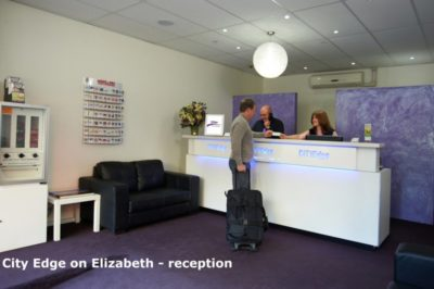 City Edge on Elizabeth Apartment Hotel Reception